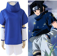 Japanese Anime Cosplay Costume Naruto Uchiha Sasuke short shirt pants full suit