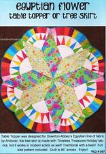 Egyptian Flower  Table Topper or Tree Skirt  Pieced Quilt Pattern