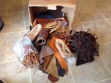 Leather Working materials rawhide laces crafting crafts Vintage pieces