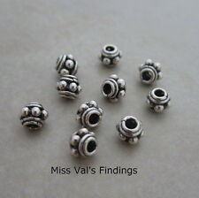 10 sterling silver 4.5mm Bali spacer beads beaded
