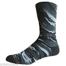 BUY2GET1FREE Footwork Tiger Camo Socks Stealth black gray camouflage military US