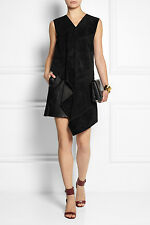 New Derek Lam Black Suede & Leather Mini Dress RRP £2190