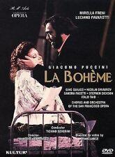 Puccini La Boheme Freni, Pavarotti, Severini, San Francisco Opera, Sealed DVD!
