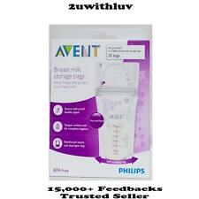 PHILIPS AVENT BREAST MILK STORAGE BAGS 180ML 25 PACKS BPA FREE