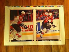 1992 Upper Deck uncut Card sheet Philadelphia Flyers DAVE BROWN Rod Brind'Amour