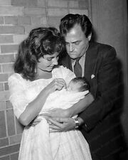 8x10 Print Elizabeth Taylor Husband Mike Todd Little Liza #ETMT