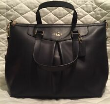 * NEW COACH  Midnight Blue Crossgrain Leather Satchel Tote Shoulder Bag Nwt