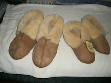 GENUINE SHEEPSKIN SLIPPERS -- LADY: SMALL4-5, MEDIUM 6-8, LARGE.9-11NWT