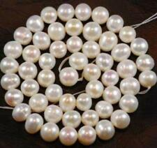 7-8MM White Freshwater Cultured Pearl Loose Bead 15''