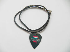 FALLING IN REVERSE guitar pick plectrum braided twist LEATHER NECKLACE 20""