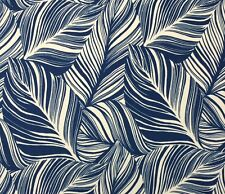 TOMMY BAHAMA FANTASY FOILAGE PENINSULA INDIGO BLUE TROPICAL FABRIC BY THE YARD