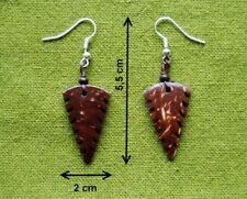 """Boucles d'oreilles en noix de coco """"Bai-Lan"""" -  Bijoux Ethniques"""