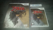 THE LEGEND OF ZELDA TWILIGHT PRINCESS WII NINTENDO NEUF VF + GUIDE OFFICIEL NEUF
