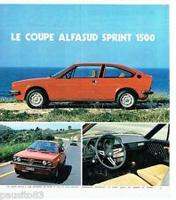 PUBLICITE ADVERTISING 116  1978  Alfa Romeo  le coupé Alfasud Sprint 1500