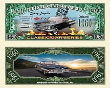 1960 Chevy Impala Dollar Bill Collectible Fake Funny Money Novelty Note