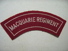 INSIGNE BADGE AUSTRALIE MACQUARIE REGIMENT