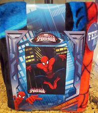 "NEW Marvel Ultimate Spiderman Silky Soft Throw Blanket- New with Tags- 50"" x 40"""