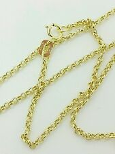 "10k Solid Yellow Gold Round Rolo Link Necklace Pendant Chain 20"" 1.9mm"