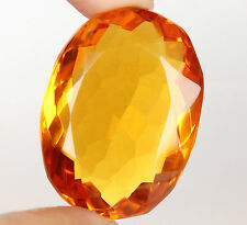 72.75 Ct. Translucent Yellow Citrine eBay Oval Cut Certified Loose Gemstone -98