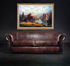 Heinie Hartwig PAINTING Original Oil On Board Signed Large Western Landscape Art