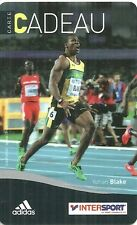 RARE / CARTE CADEAU : YOHAN BLAKE - ATHLETISME 100 METRES JAMAIQUE / INTERSPORT