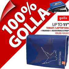"Golla Tablet Laptop Netbook Bag Case Correa acolchada para 11"" se adapta a 11.6"" 9.7"""