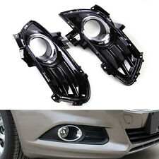 2x Black Fog Light Lamp Grill Grille Fit For Ford Fusion Mondeo 2013 2014 2015