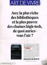 Publicité advertising 1989 Hi-Fi Marantz