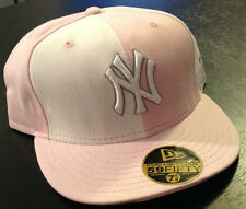 New York Yankees NEW ERA 59FIFTY Fitted Hat Pink/White MLB AUTHENTIC Size 7 1/8