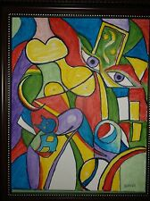 Picasso Abstract by the artist Rodster 11X14-Original Acrylic