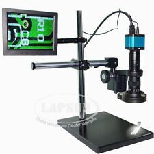 "14MP HDMI Microscope 8"" TFT Monitor USB Industrial Camera +180X C-mount Lens Set"