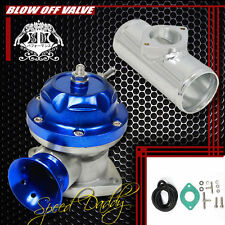 "UNIVERSAL BILLET ANODIZED TYPE-RS TURBO BLOW OFF VALVE BOV+2.5"" FLANGE PIPE BLUE"