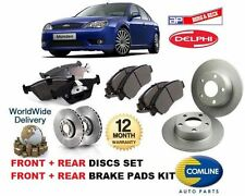 FOR FORD MONDEO 2000-2007 NEW FRONT + REAR BRAKE DISCS SET + DISC PADS KIT