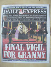 VINTAGE NEWSPAPER DAILY EXPRESS APRIL 9th 2002 QUEEN MOTHER FINAL FAREWELL