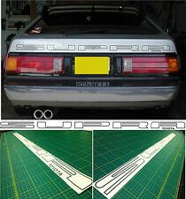 Toyota Supra MK 2 1985 - 1986  Hatch Tailgate Restoration Decals Stickers