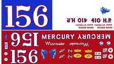 #15 or #16 Mercury Marauder 1963 1/24th - 1/25th Scale Decals