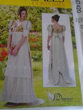 """PATRON  """"McCALL'S COSTUMES SUPERBE ROBE EMPIRE .... 34 A 42 N° 7420 A5"""