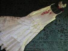 FLAPPER 1920s 30s cream satin drop waist day dress gown COSTUME 6 theater stage
