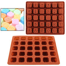 Hot Letter Alphabet Silicone Cake Fondant Topper Mold Chocolate Cookies Ice Mold