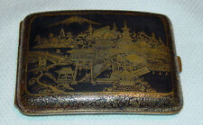 Beautiful Vintage WWII Era Japanese Damascene Cigarette Case - Mount Fuji
