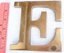 "Solid Brass Letter ""E"" glossy finish 5x5 inches 1/2 inch thick"