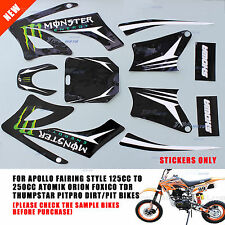 APOLLO ORION STYLE STICKERS GRAPHICS DIRT/PIT BIKE 125/250CC /TDR/FOXICO/PITPRO