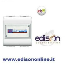 ELETTROCANALI PULSANTE CON PORTANOME DUE MODULI compatibile living light