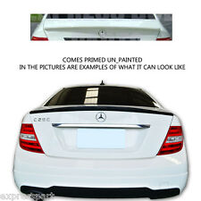 New Mercedes Benz 2008-2014 C Class Primed Trunk Spoiler W204 Coupe