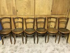 Original antique Bentwood by Fischel Parlor Chairs (set of 6) in great condition