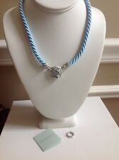 "Judith Ripka Sterling Silver Blue Topaz 3-piece 18"" Necklace Set"