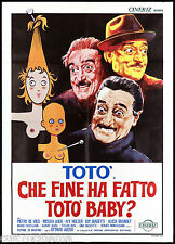 CHE FINE HA FATTO TOTO' BABY? MANIFESTO CINEMA FILM ANTONIO DE CURTIS POSTER 2F