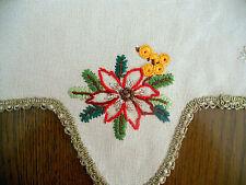 2 Weihnachts-Deckchen Sterne 1a-Handarbeit Durchmesser je ca. 38 cm -wie neu -