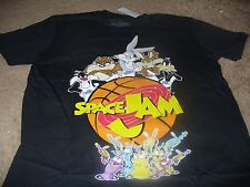 Space Jam Men's KO Bugs Bunny Taz Cartoon Black T-Shirt Size XL