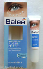 Balea Active Eye-Contour Gel - Reduces Puffiness, Dark Circles, -15ml